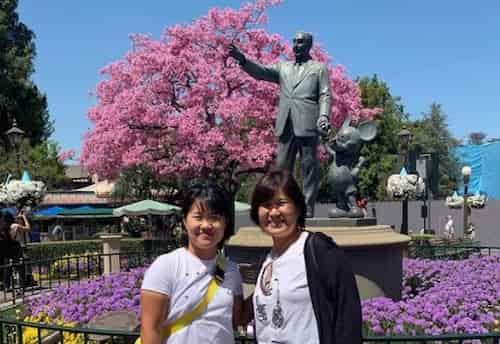 畑岡奈紗と母親