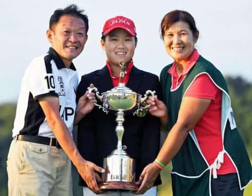 畑岡奈紗と両親
